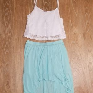 Crop Top & Skirt Outfit